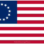 13 Star Betsy Ross Flag - Vector