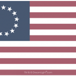 13 Star Betsy Ross Flag - Faded