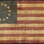 13 Star Betsy Ross Flag - Wrinkled