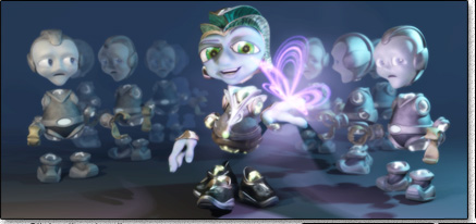 Click to view a sample of the 3D character designs from the 3D animated short film - Fault Effect.