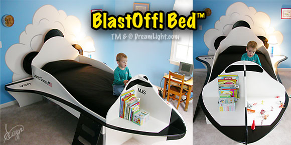 BlastOff! Bed TM & (C) DreamLight.com As Seen on HGTV's Look What I Did! Episode HLWID-106