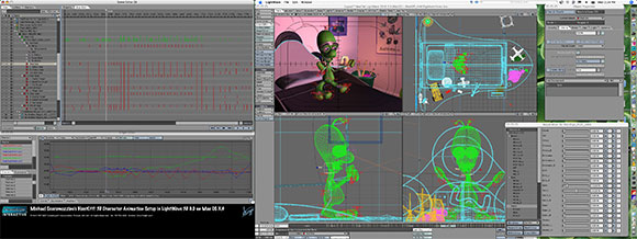 Michael Scaramozzino's BlastOff! 3D Character Animation Setup in LightWave 3D 9.0 on Mac OS X.4.