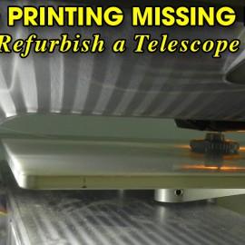 3D Printing Missing Thumb Nuts to Refurbish a Telescope