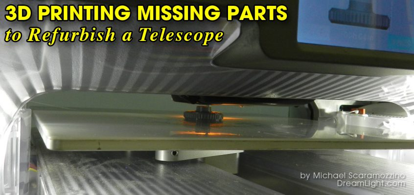3D Printing Missing Thumb Nuts to Refurbish a Telescope
