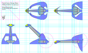 CyberCruiser Space Ship Initial Design Sheet