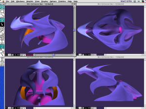 CyberCruiser Space Ship 3D Model Design