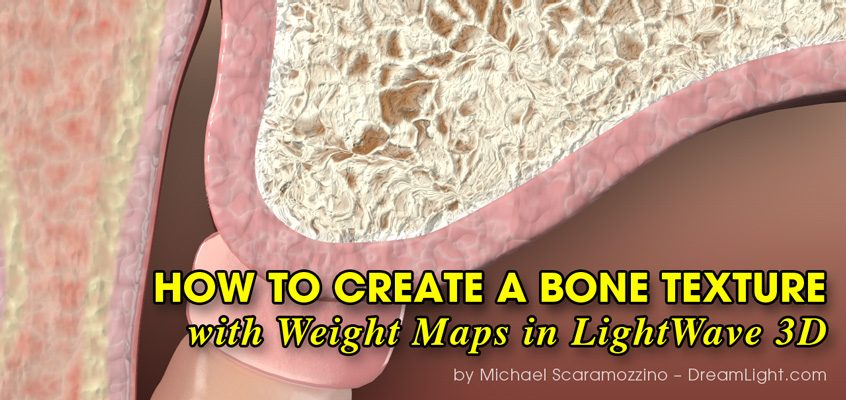 How to Create a Bone Texture with Weight Maps in LightWave 3D