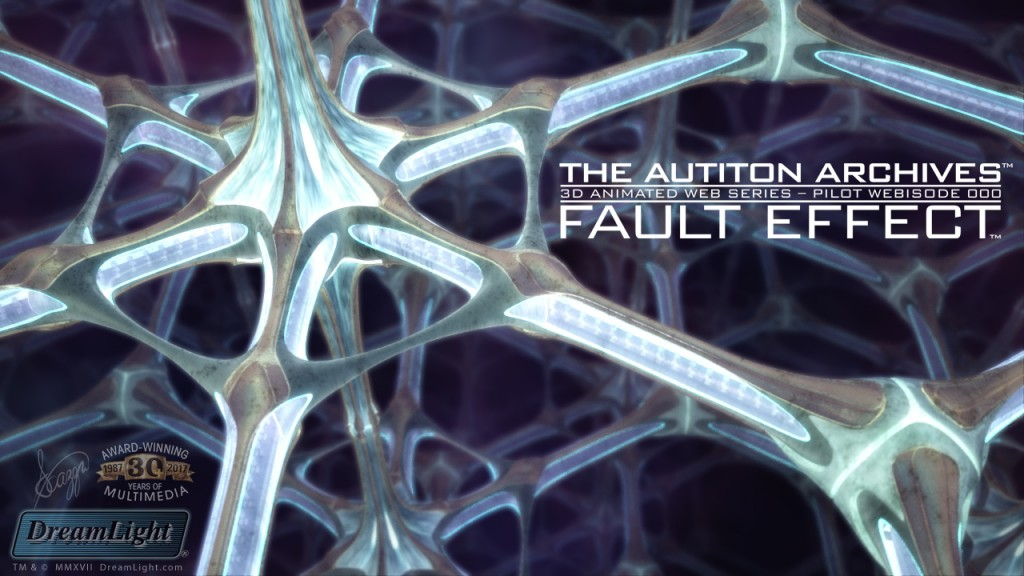 LightWave 3D Nested Instancing - The Autiton Archives - Fault Effect - Title Screen Mockup
