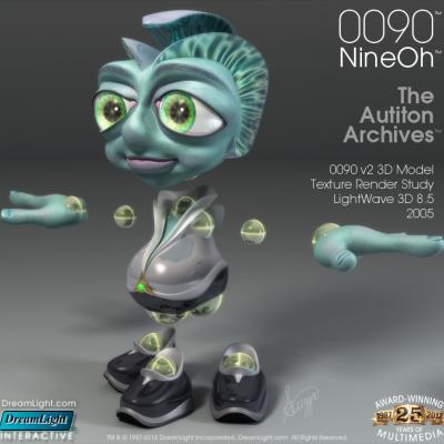0090 v2 3D Model texture render study - LightWave 3D 8.5 - 2005