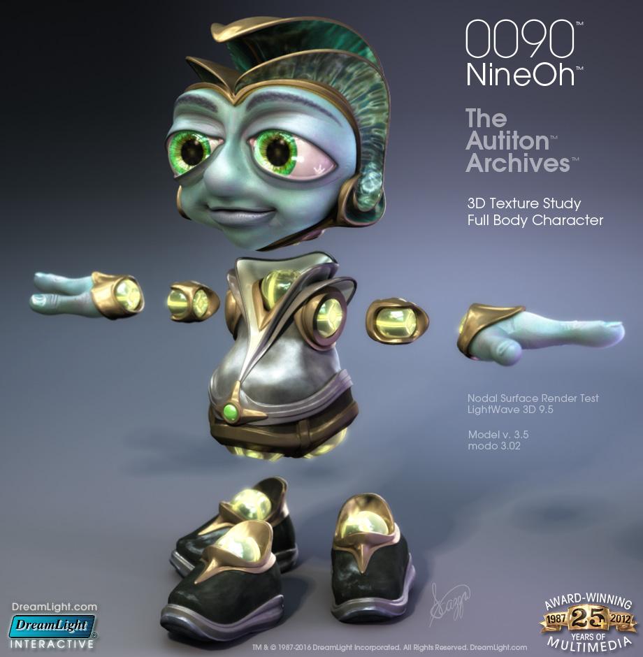 3D Character Design - 0090 v3 - 3D Character Texture Render Study