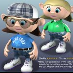 3D Mobile App Assets – Characters, Sets & Props - 3D Customizable Avatar Character Design