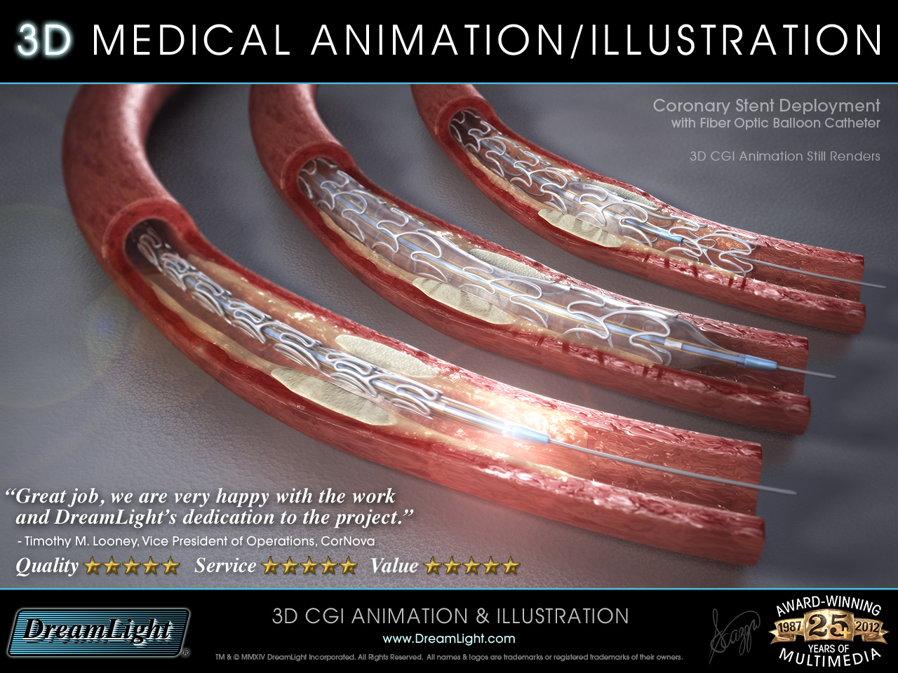 3D Medical Device Animation + Illustration