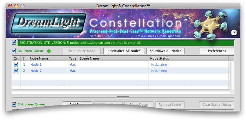 DreamLight Constellation Nodes Initializing