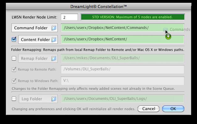 DreamLight Constellation Dropbox Mac OS X Preferences