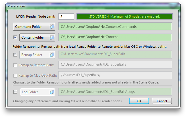 DreamLight Constellation Dropbox Windows Preferences