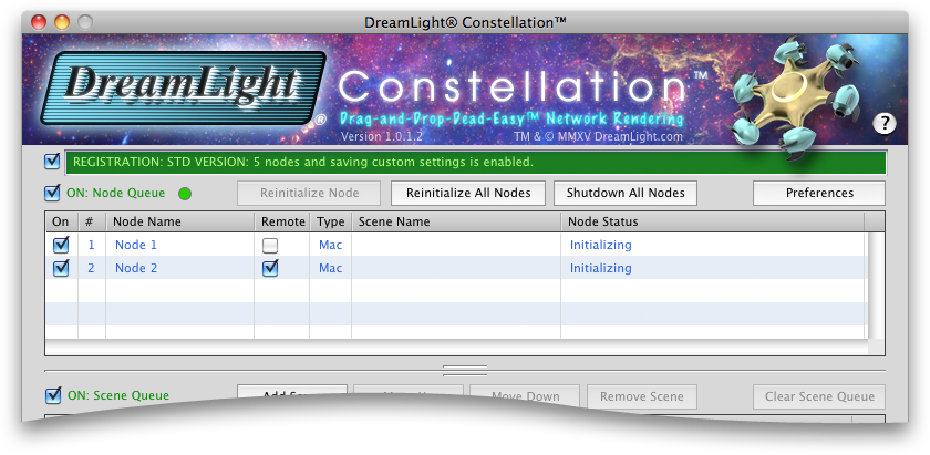 DreamLight Constellation Node Queue
