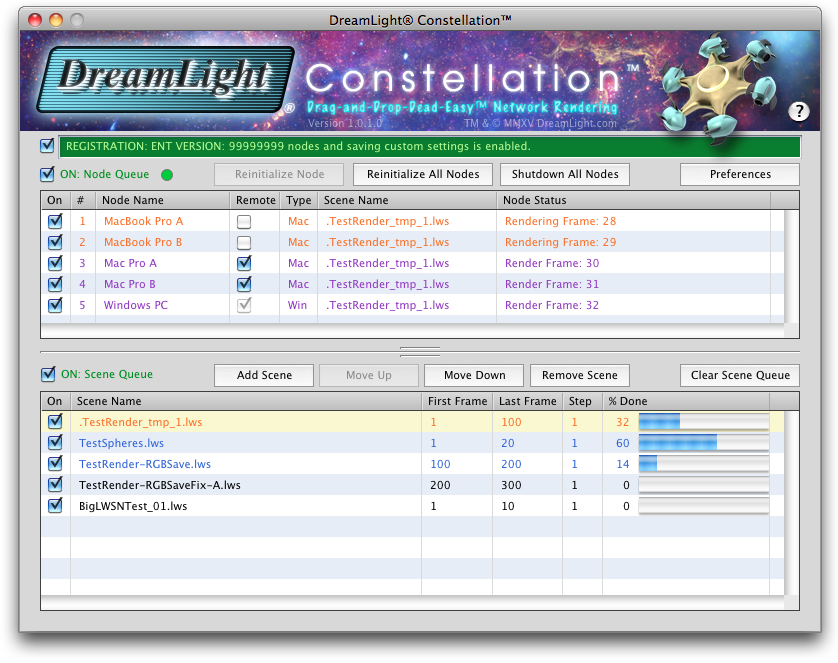 DreamLight Constellation Network Render Controller for LightWave 3D