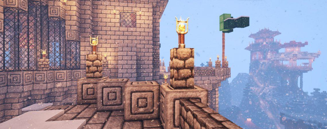 Castle - Shaolin Temple<br>Sensei & Son HD128 Minecraft Texture Pack