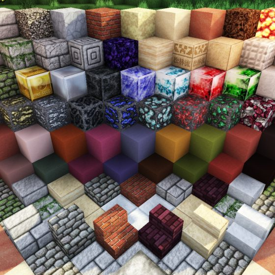 Stone Block Textures with GLSL<br>Sensei & Son HD128 Minecraft Texture Pack