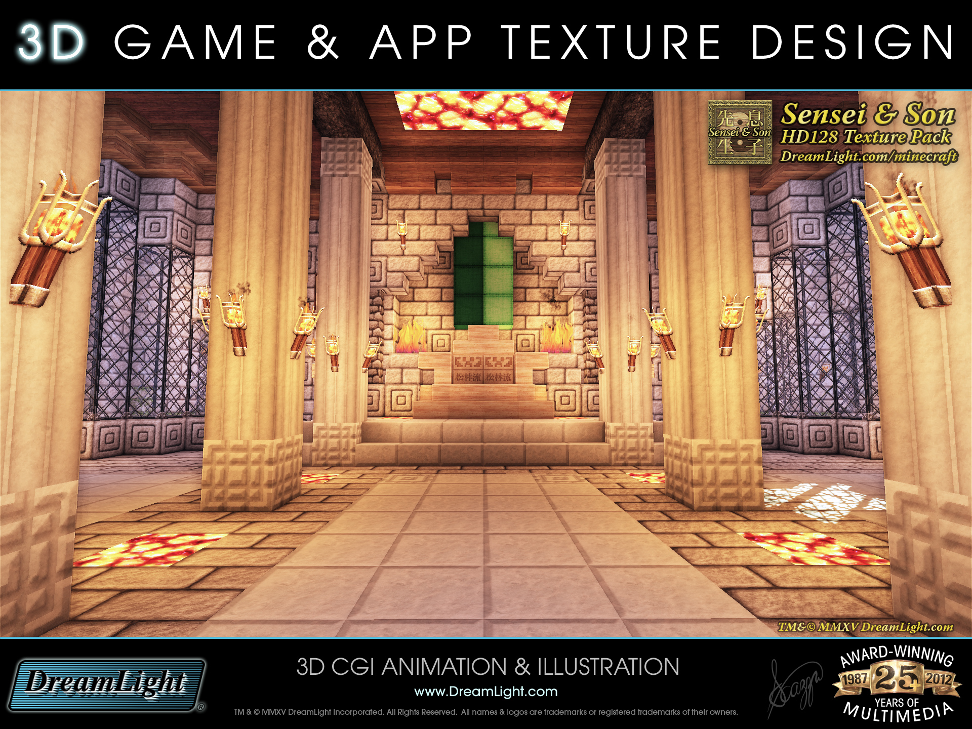 3d game app texture and graphics design minecraft