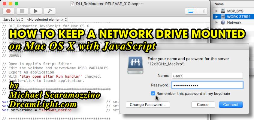 how to setup a netowork drive with mac