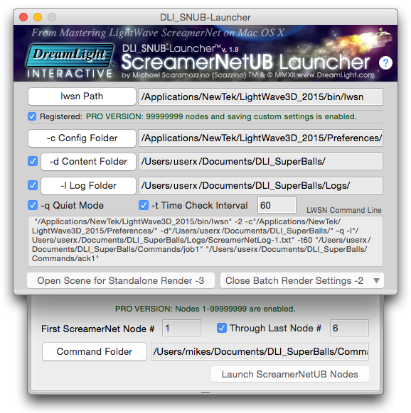 DLI SNUB Launcher Main GUI Interface Mac OS X Yosemite