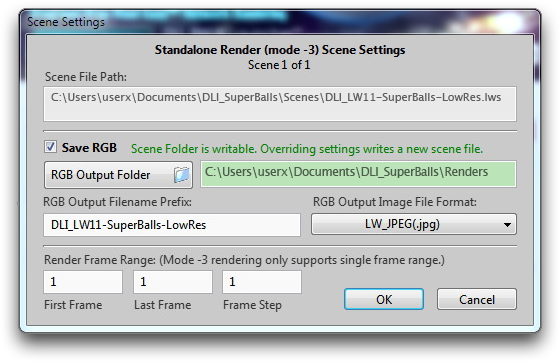 Windows: DLI_SNUB-Launcher 2 New Scene Settings Panel for Drag-and-drop-dead-easy™ Standalone Rendering
