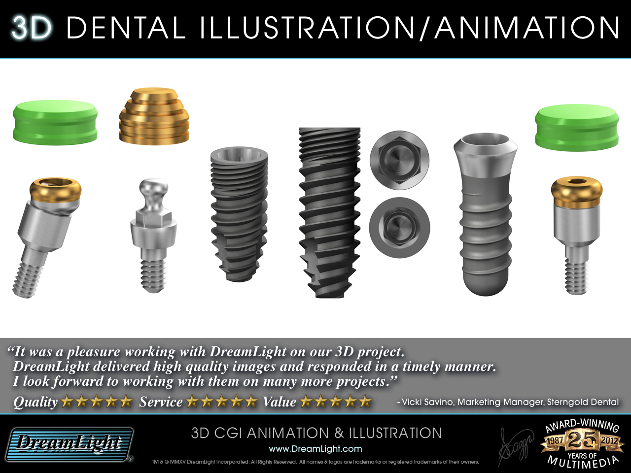 3D Dental Device Product Illustration and Animation - DreamLight.com ...