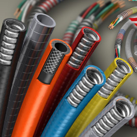 3D Cutaway, See Through & Beauty Shot Product Illustration of Armored Cable & Wire