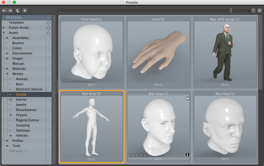 Default Modo Human Mesh 3D Model