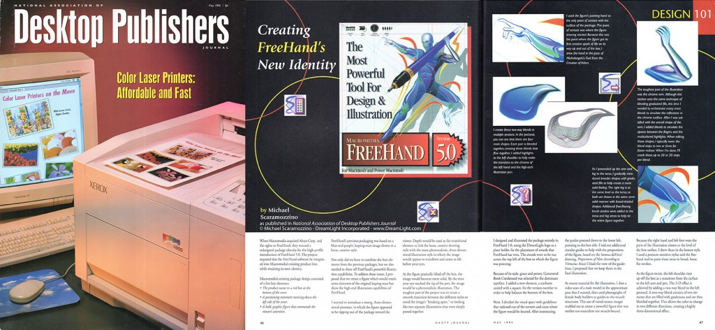 Desktop Publishers Journal - Scaramozzino - FreeHand's New Identity