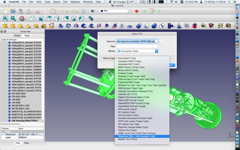 Export OBJ File from FreeCAD - How to Import Solidworks Files into Modo