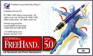 Macromedia FreeHand Splash Screen Design