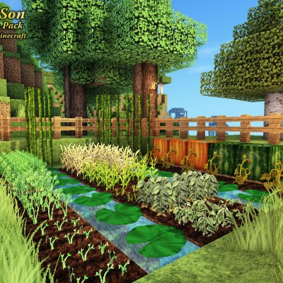Birchwood Castle Farm<br>Sensei & Son HD128 Minecraft Texture Pack