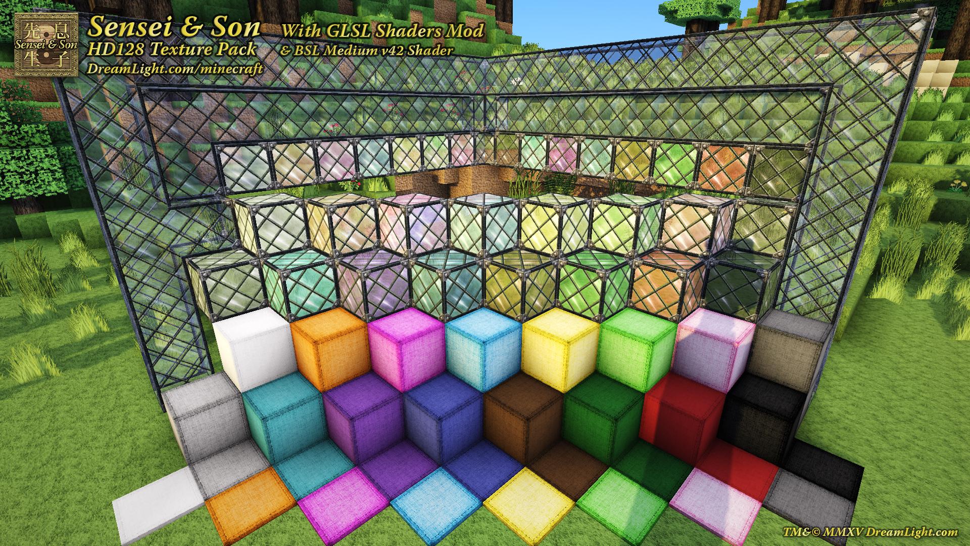 Sensei and Son HD128 Minecraft Texture Pack - DreamLight.com - Boston, MA