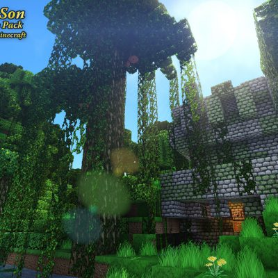 Jungle Temple<br>Sensei & Son HD128 Minecraft Texture Pack