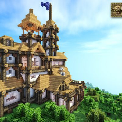 Log Mansion<br>Sensei & Son HD128 Minecraft Texture Pack