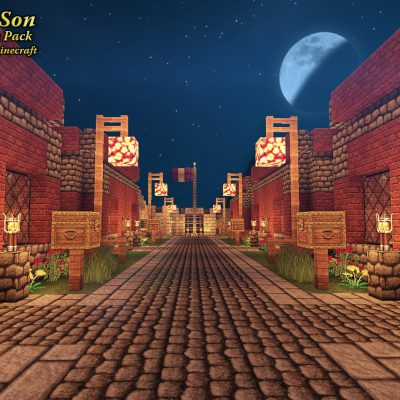 Mainstreet Brick Houses<br>Sensei & Son HD128 Minecraft Texture Pack