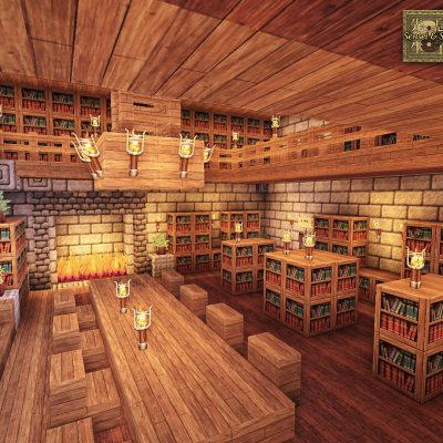 Castle Library<br>Sensei & Son HD128 Minecraft Texture Pack