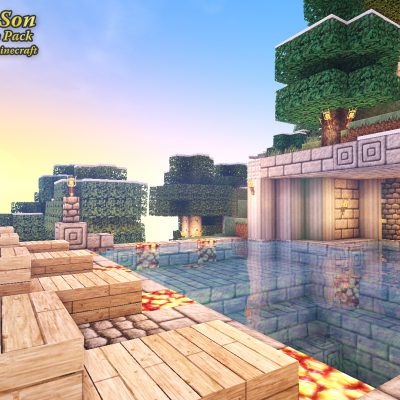 Castle Pool<br>Sensei & Son HD128 Minecraft Texture Pack