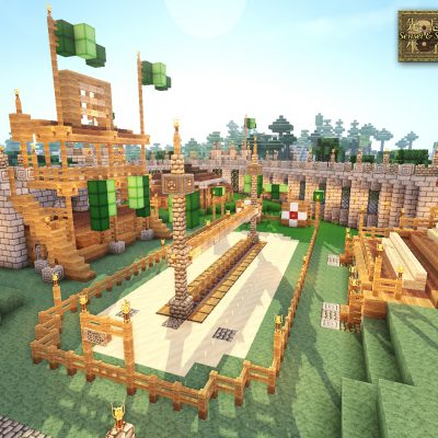 PVP Jousting Arena<br>Sensei & Son HD128 Minecraft Texture Pack