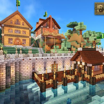 Castle Fishing Docks<br>Sensei & Son HD128 Minecraft Texture Pack