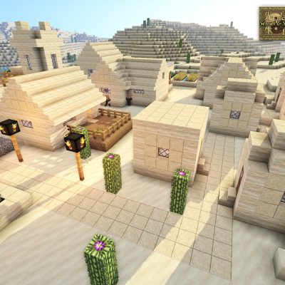NPC Sandstone Village<br>Sensei & Son HD128 Minecraft Texture Pack