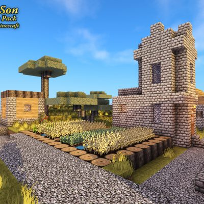 NPC Village<br>Sensei & Son HD128 Minecraft Texture Pack
