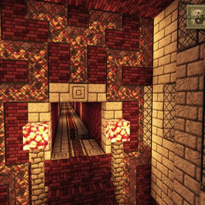 Nether Railstation<br>Sensei & Son HD128 Minecraft Texture Pack