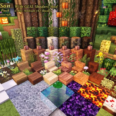 Organic Block Textures with GLSL<br>Sensei & Son HD128 Minecraft Texture Pack