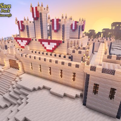 Sandstone Castle<br>Sensei & Son HD128 Minecraft Texture Pack