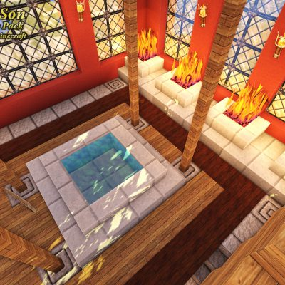 Temple Healing Well<br>Sensei & Son HD128 Minecraft Texture Pack