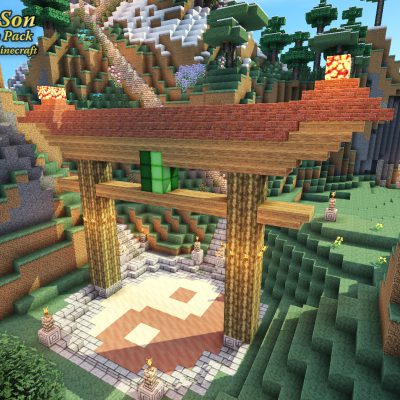 Temple Torii Gate<br>Sensei & Son HD128 Minecraft Texture Pack