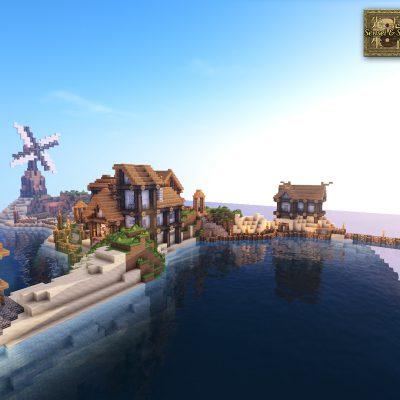 Southern Isle<br>Sensei & Son HD128 Minecraft Texture Pack